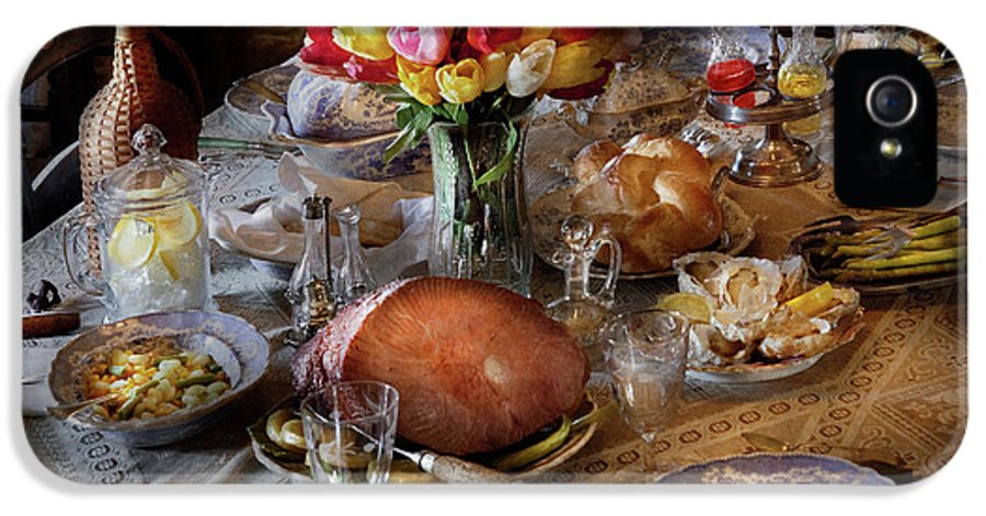 Hdr IPhone 5 / 5s Case featuring the photograph Food - Easter Dinner by Mike Savad