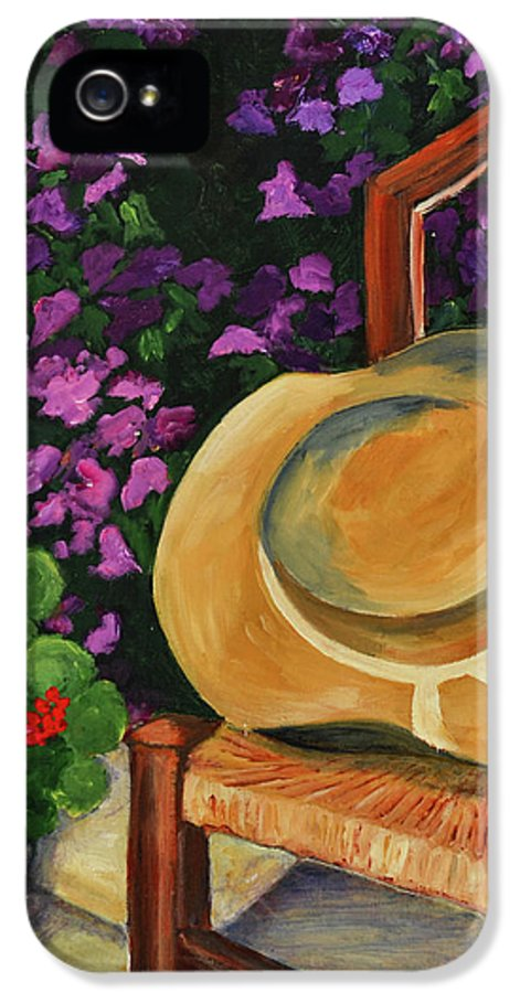 Garden IPhone 5 / 5s Case featuring the painting Garden Scene by Elise Palmigiani