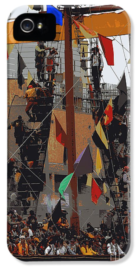 Gasparilla IPhone 5 / 5s Case featuring the photograph Gasparilla Ship Poster by Carol Groenen