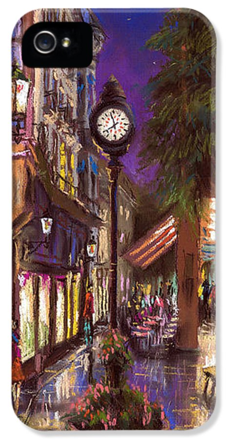 Pastel IPhone 5 / 5s Case featuring the painting Germany Baden-baden 11 by Yuriy Shevchuk
