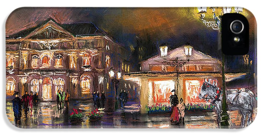 Pastel IPhone 5 / 5s Case featuring the painting Germany Baden-baden 14 by Yuriy Shevchuk
