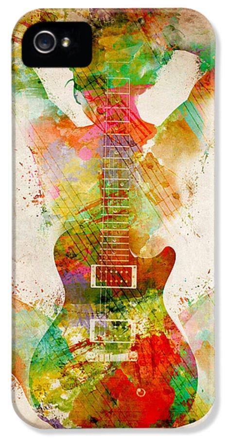 Guitar IPhone 5 / 5s Case featuring the digital art Guitar Siren by Nikki Smith