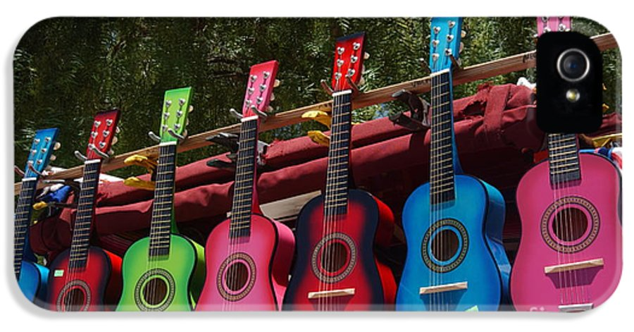 Guitars IPhone 5 / 5s Case featuring the photograph Guitars In Old Town San Diego by Anna Lisa Yoder