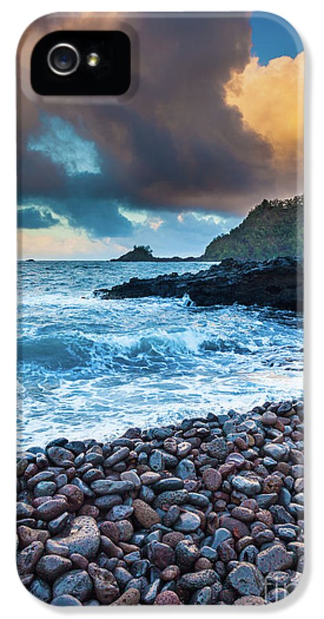 America IPhone 5 / 5s Case featuring the photograph Hana Bay Pebble Beach by Inge Johnsson