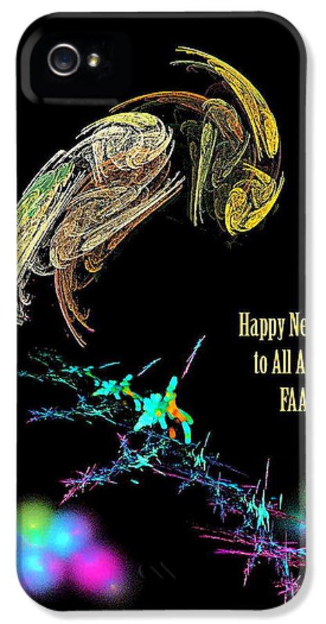 Happy IPhone 5 / 5s Case featuring the digital art Happy New Year by Viktor Savchenko