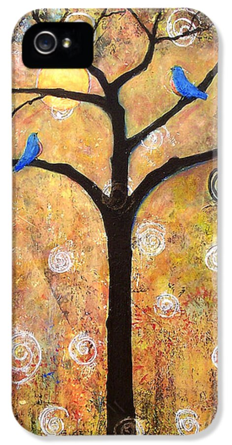 Tree IPhone 5 / 5s Case featuring the painting Harvest Moon by Blenda Studio