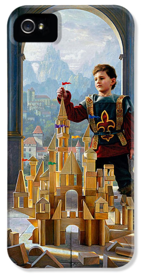 King IPhone 5 / 5s Case featuring the painting Heir To The Kingdom by Greg Olsen