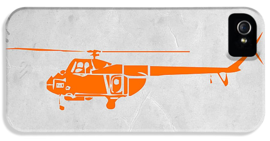 Helicopter IPhone 5 / 5s Case featuring the painting Helicopter by Naxart Studio