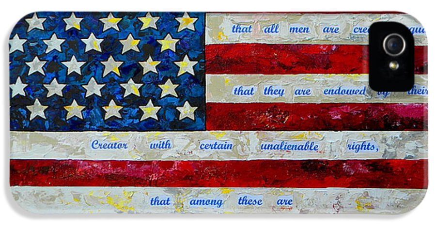 American Flag IPhone 5 / 5s Case featuring the painting I Believe by Patti Schermerhorn