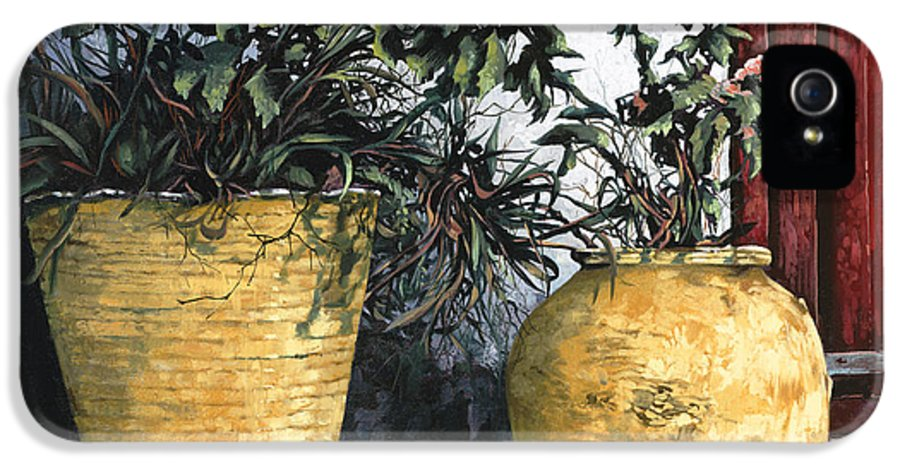 Vases IPhone 5 / 5s Case featuring the painting I Vasi by Guido Borelli
