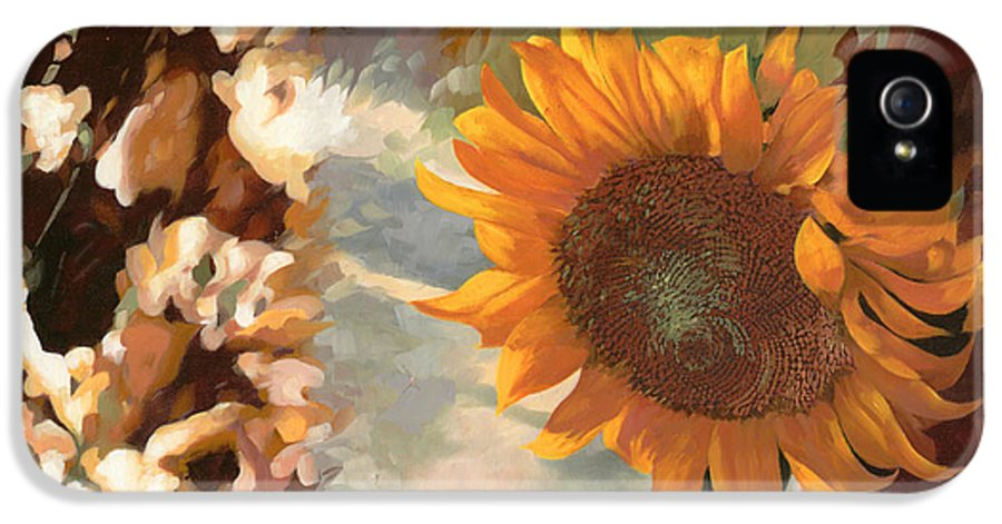 Sunflower.sunflowers Field IPhone 5 / 5s Case featuring the painting Il Girasole by Guido Borelli
