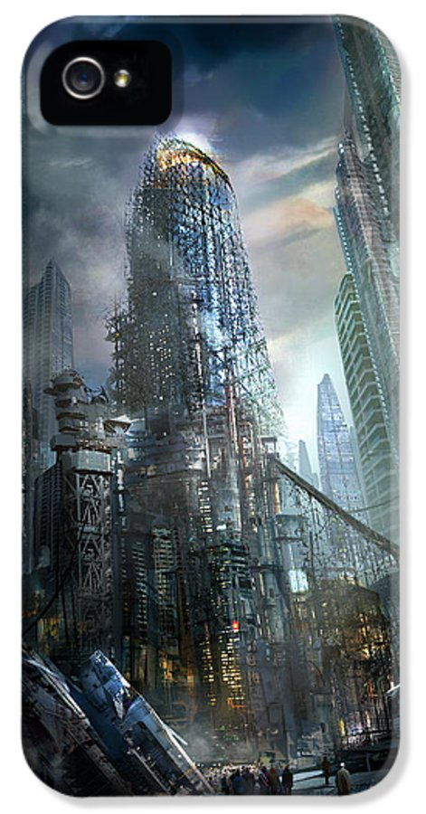 Philip Straub IPhone 5 / 5s Case featuring the painting Industrialize by Philip Straub