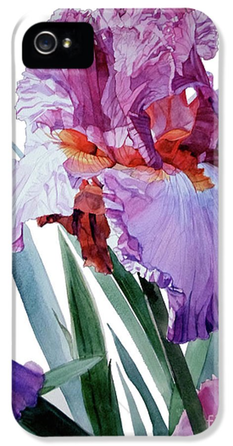 ​ IPhone 5 / 5s Case featuring the painting Iris Luciano Pavarotti by Greta Corens