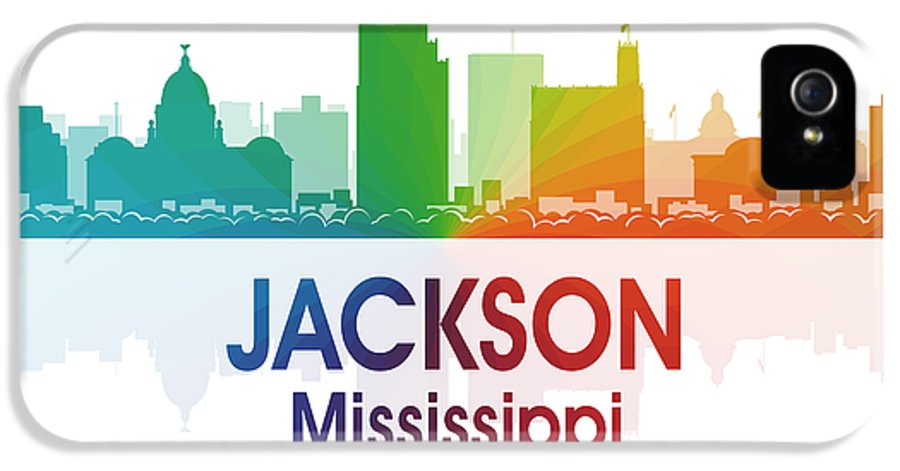 Jackson IPhone 5 / 5s Case featuring the digital art Jackson Ms by Angelina Vick