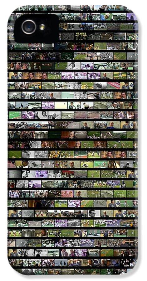 Joe Paterno IPhone 5 / 5s Case featuring the digital art Joe Paterno Mosaic by Paul Van Scott