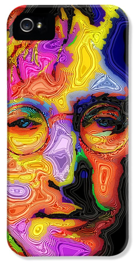 John Lennon IPhone 5 / 5s Case featuring the painting John Lennon by Stephen Anderson