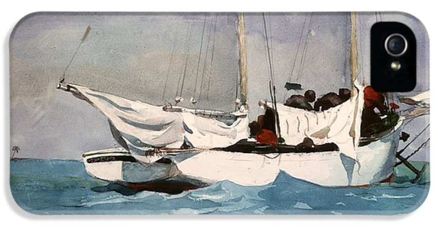 Winslow Homer IPhone 5 / 5s Case featuring the digital art Key West Hauling by Winslow Homer