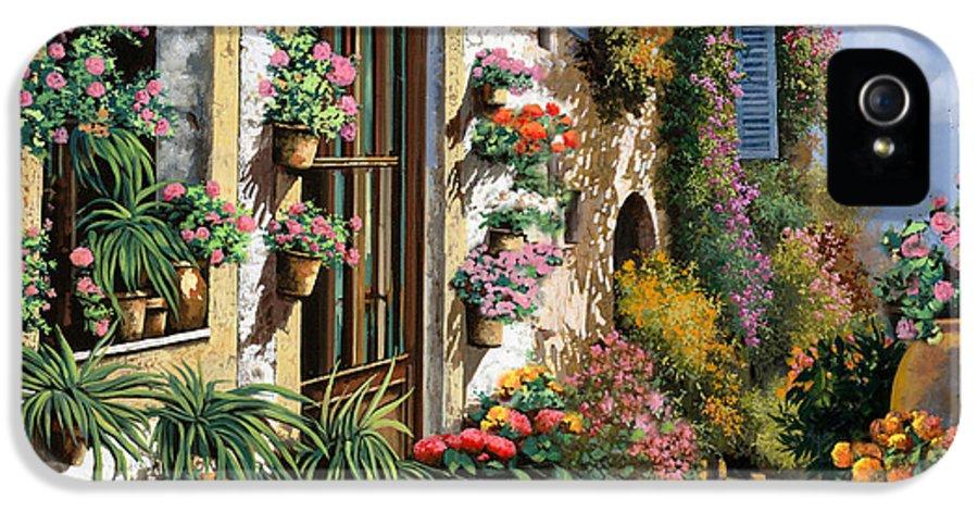 Seascape IPhone 5 / 5s Case featuring the painting La Strada Del Lago by Guido Borelli