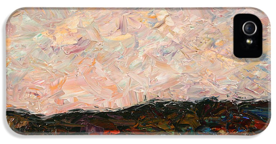 Land IPhone 5 / 5s Case featuring the painting Land And Sky by James W Johnson