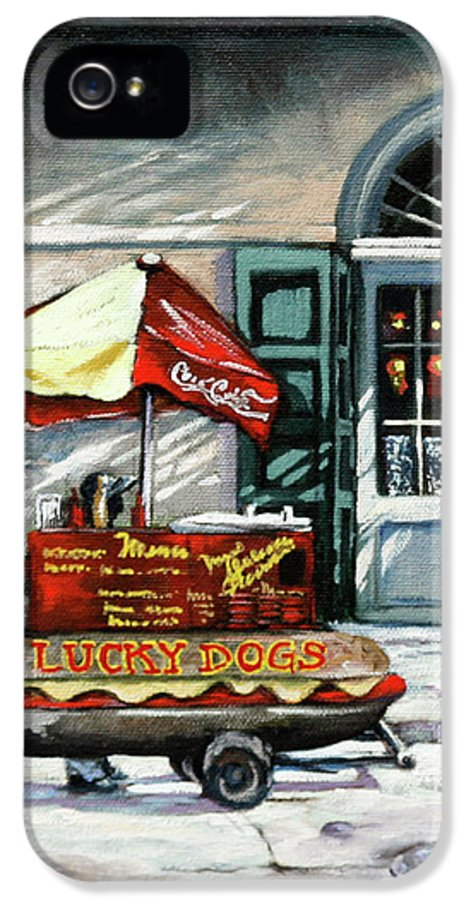 Lucky Dogs IPhone 5 / 5s Case featuring the painting Lucky Dogs by Dianne Parks