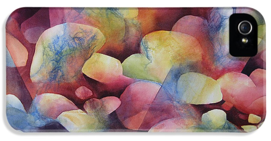 Abstract IPhone 5 / 5s Case featuring the painting Luminosity by Deborah Ronglien