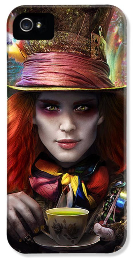 Hatter IPhone 5 / 5s Case featuring the digital art Mad As A Hatter by Omri Koresh