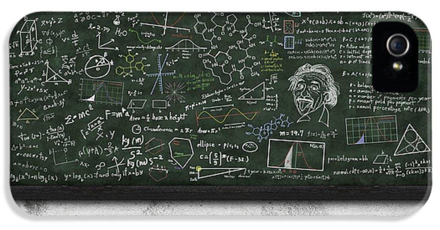 Algebra IPhone 5 / 5s Case featuring the photograph Maths Formula On Chalkboard by Setsiri Silapasuwanchai
