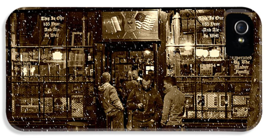 Mcsorley's Old Ale House IPhone 5 / 5s Case featuring the photograph Mcsorley's Old Ale House by Randy Aveille