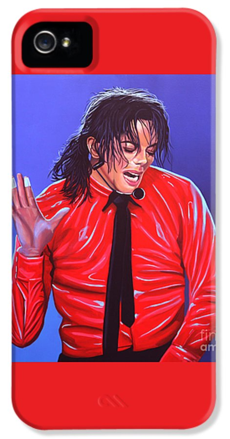 Michael Jackson IPhone 5 / 5s Case featuring the painting Michael Jackson 2 by Paul Meijering