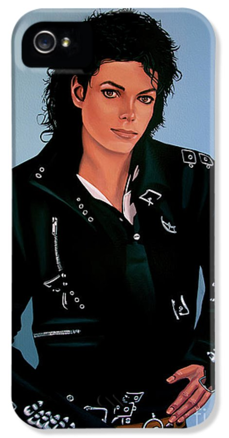 Michael Jackson IPhone 5 / 5s Case featuring the painting Michael Jackson Bad by Paul Meijering