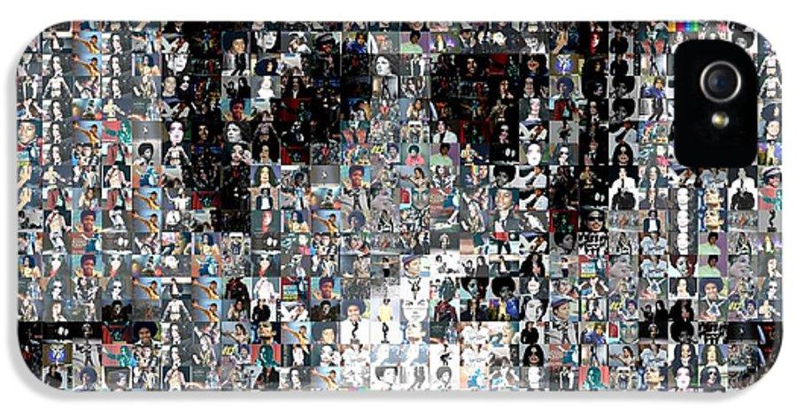Michael Jackson IPhone 5 / 5s Case featuring the mixed media Michael Jackson Glove Montage by Paul Van Scott