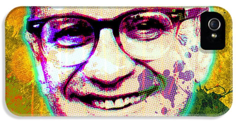 Pop Art IPhone 5 / 5s Case featuring the digital art Milton Friedman by Gary Grayson