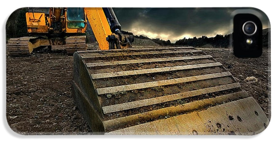 Activity IPhone 5 / 5s Case featuring the photograph Moody Excavator by Meirion Matthias