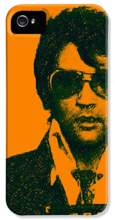 Elvis Presley IPhone 5 / 5s Case featuring the photograph Mugshot Elvis Presley by Wingsdomain Art and Photography