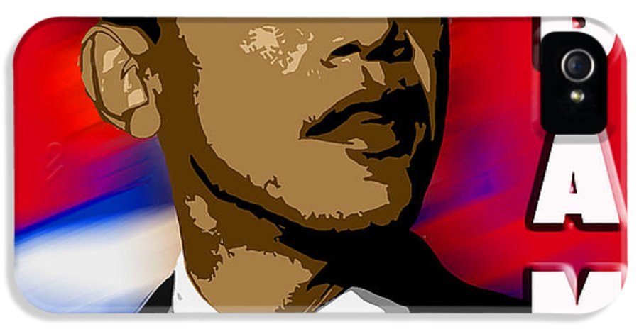 Obama IPhone 5 / 5s Case featuring the digital art Obama by John Keaton