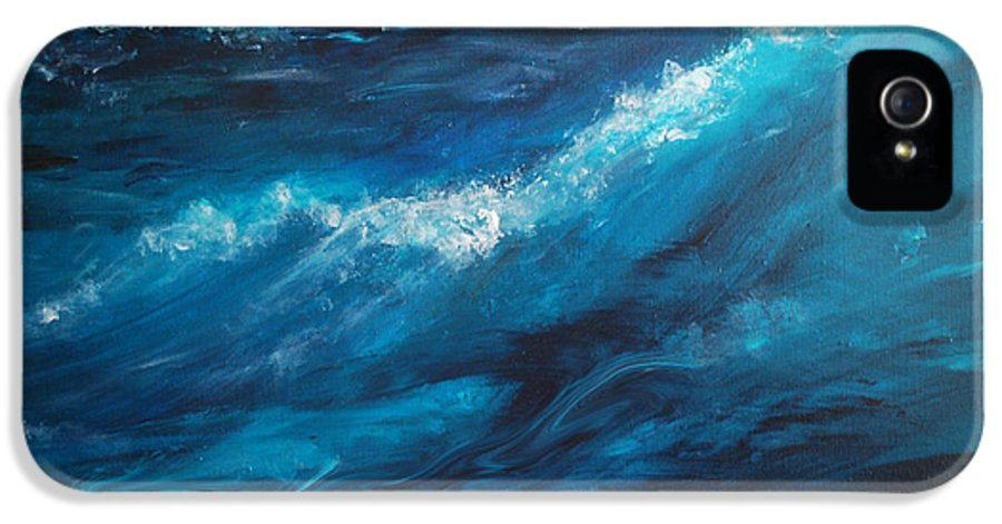 Crashing Waves IPhone 5 / 5s Case featuring the painting Ocean II by Patricia Motley