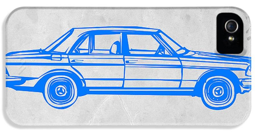 Mercedes Benz IPhone 5 / 5s Case featuring the digital art Old Mercedes Benz by Naxart Studio