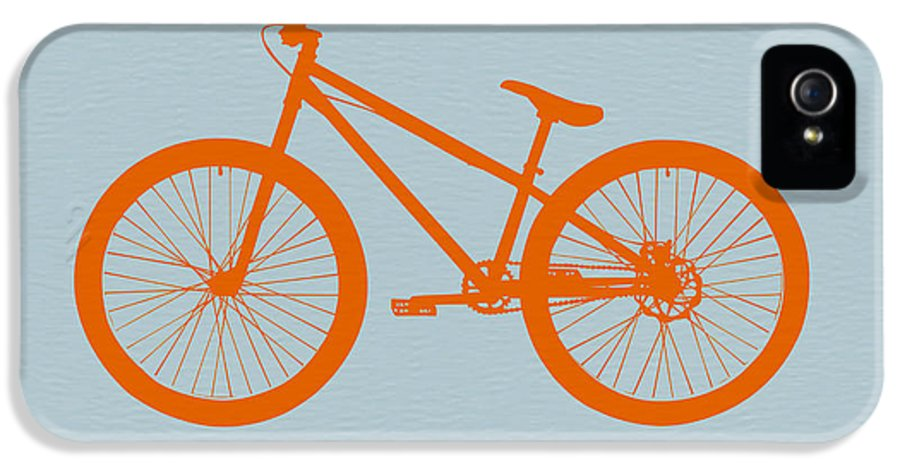 Bicycle IPhone 5 / 5s Case featuring the drawing Orange Bicycle by Naxart Studio