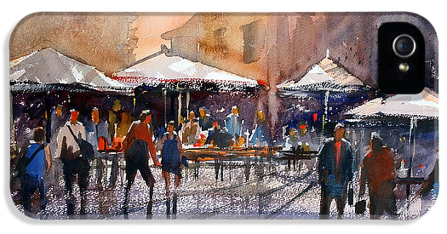 Ryan Radke IPhone 5 / 5s Case featuring the painting Outdoor Market - Rome by Ryan Radke