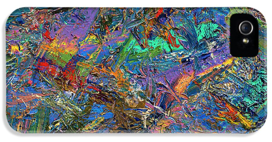 Abstract IPhone 5 / 5s Case featuring the painting Paint Number 28 by James W Johnson