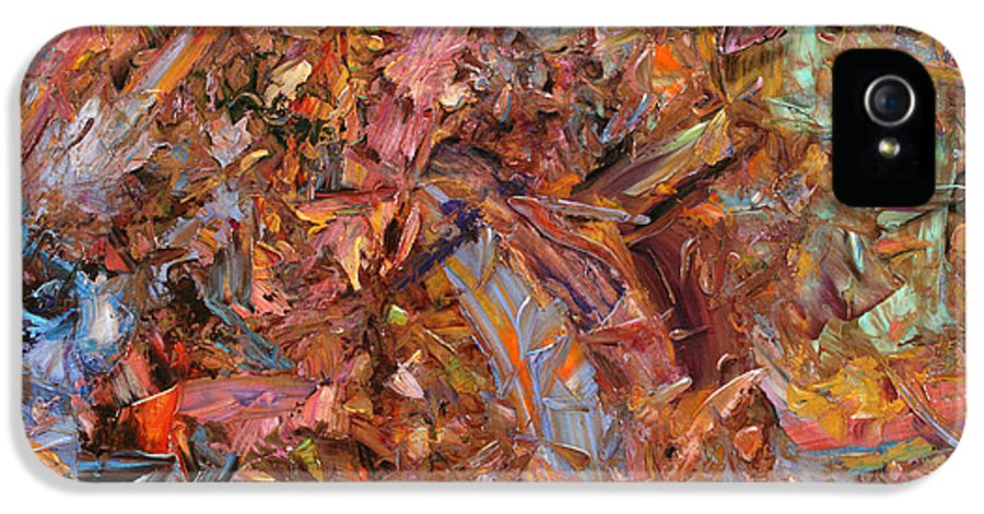 Abstract IPhone 5 / 5s Case featuring the painting Paint Number 43b by James W Johnson