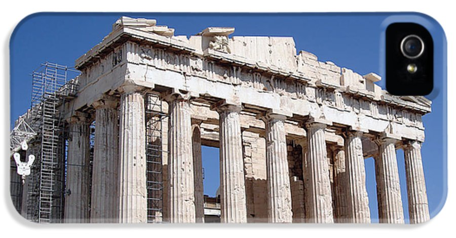 Acropolis IPhone 5 / 5s Case featuring the photograph Parthenon Front Facade by Jane Rix