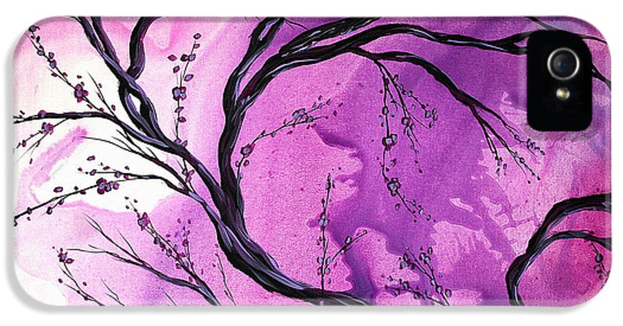 Abstract IPhone 5 / 5s Case featuring the painting Passage Through Time By Madart by Megan Duncanson