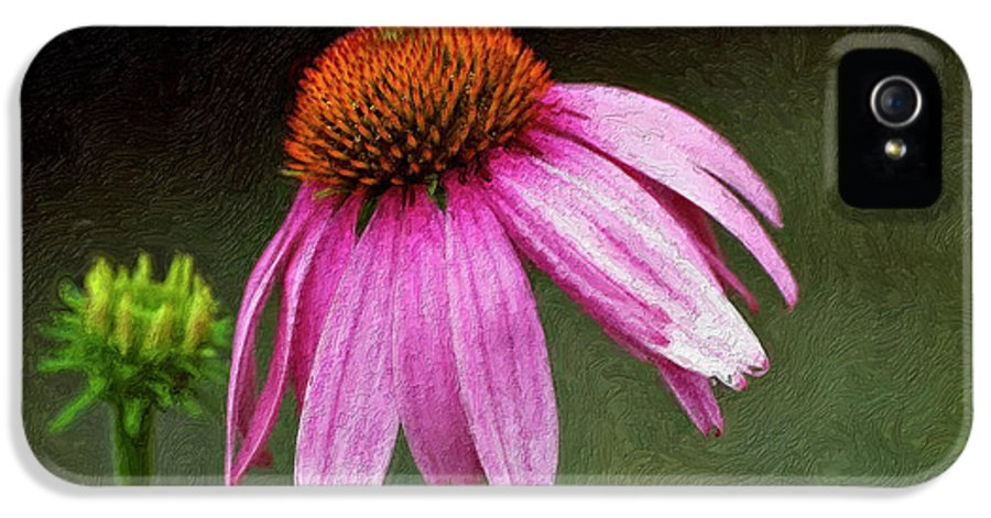 Flower IPhone 5 / 5s Case featuring the photograph Passages Impasto by Steve Harrington