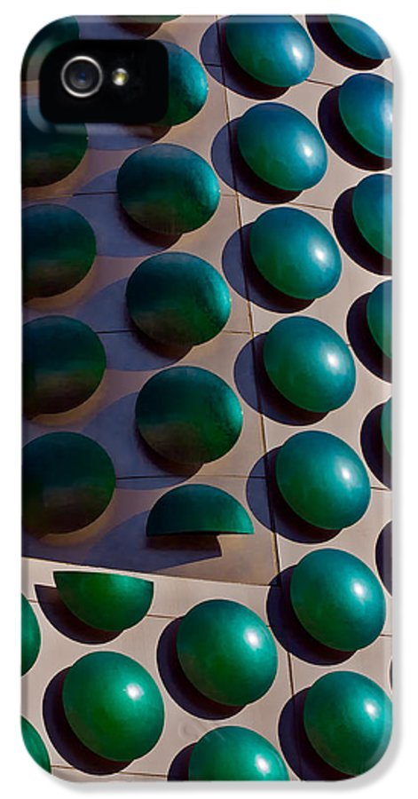 Discs IPhone 5 / 5s Case featuring the photograph Polka Dots by Christopher Holmes