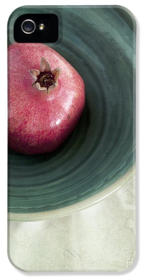 Punica Granatum IPhone 5 / 5s Case featuring the photograph Pomegranate by Priska Wettstein