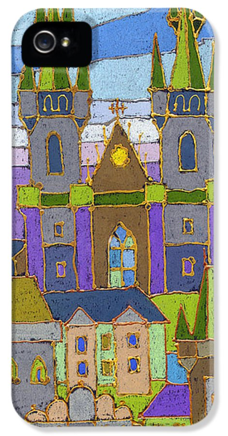 Pastel IPhone 5 / 5s Case featuring the painting Prague Panorama by Yuriy Shevchuk