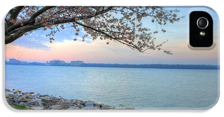Cherry Blossoms Blossom Washington Dc Potomac River Sunrise Sunset Joint Base Anacostia Bolling Afb Alexandria Va Virginia IPhone 5 / 5s Case featuring the photograph Pretty Potomac by JC Findley