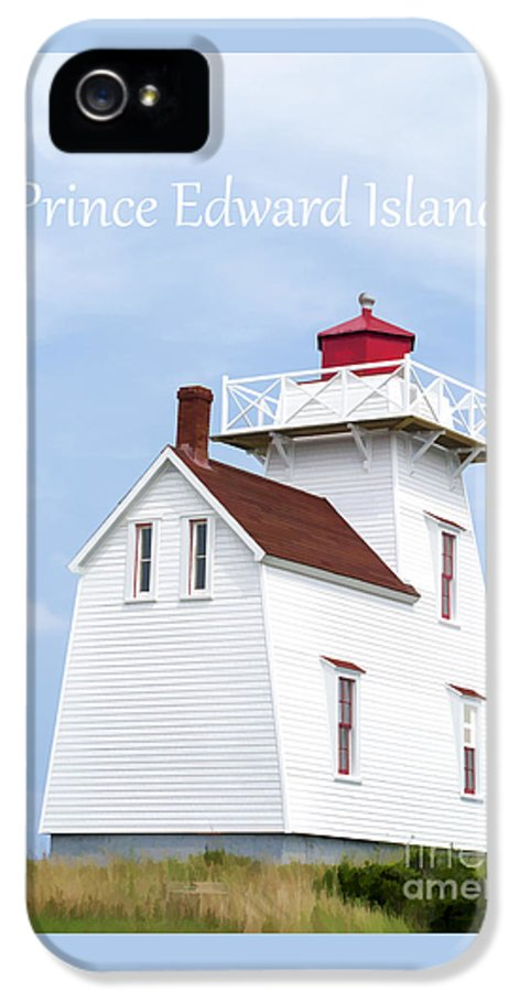Lighthouse IPhone 5 / 5s Case featuring the painting Prince Edward Island Lighthouse Poster by Edward Fielding
