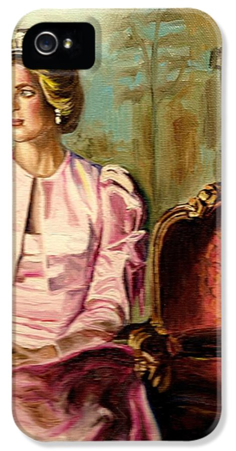 Princess Diana IPhone 5 / 5s Case featuring the painting Princess Diana The Peoples Princess by Carole Spandau